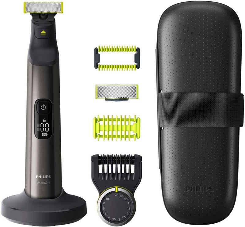 Philips Elektrorasierer OneBlade Pro QP6650/30, Aufsätze: 4, Präzisionskamm mit 14 Einstellungen / Nass oder trocken verwendbar