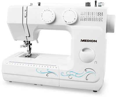 Medion® Freiarm-Nähmaschine MD 18205, Knopfloch- und Einfädelautomatik