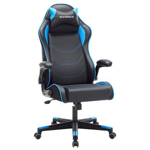 SONGMICS Gaming Chair »RCG014B01« Gamingstuhl, Racing Chair, ergonomischer Schreibtischstuhl, schwarz-blau