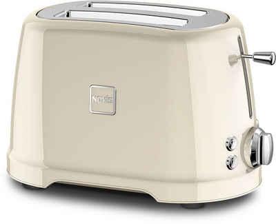 NOVIS Toaster T2 creme, 2 kurze Schlitze, 900 W