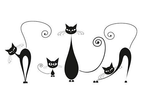 Deko-Sticker, EUROGRAPHICS, »Black Cats«