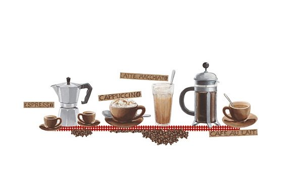 Deko-Sticker, EUROGRAPHICS, »Coffee« in braun