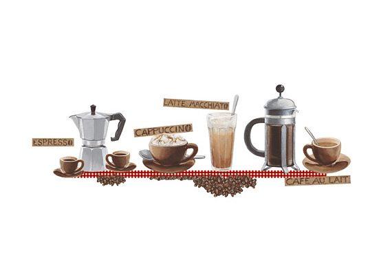Deko-Sticker, EUROGRAPHICS, »Coffee«