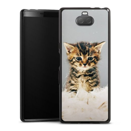 DeinDesign Handyhülle »Kitty« Sony Xperia 10, Hülle Katze Haustier Feder