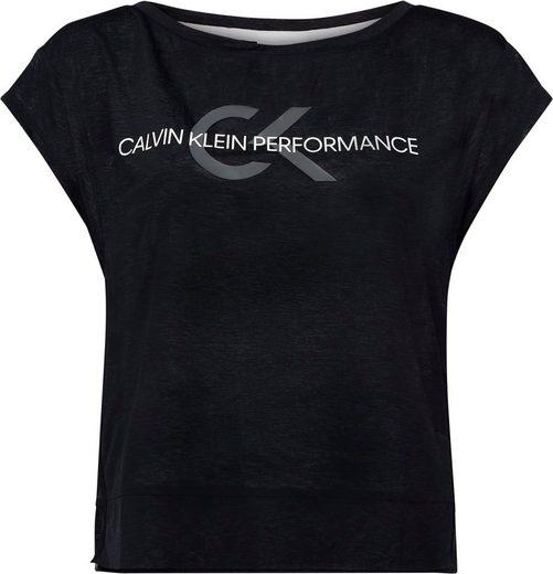 Calvin Klein Performance T-Shirt »CROPPED SHORT SLEEVE T-SHIRT« mit Calvin Klein Performance Schriftzug & CK Logo-Print