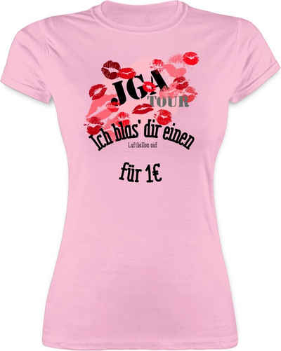 Shirtracer T-Shirt »JGA Tour - Ich blas dir einen Luftballon auf - JGA Junggesellenabschied Frauen - Damen Premium T-Shirt« Junggesellinnenabschied Damen