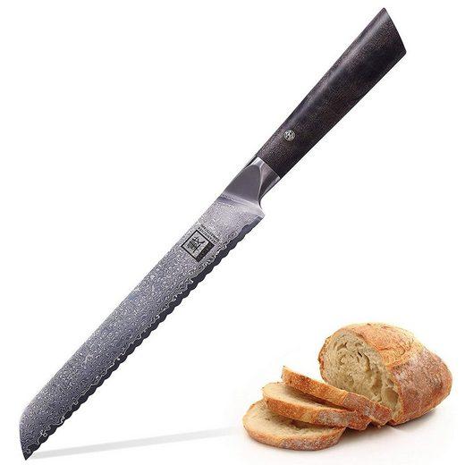 """ZAYIKO Damastmesser »Damastmesser DAITO PROFI LINE """"Brotmesser"""" - Ahornholz - VG-10 Stahlkern«"""