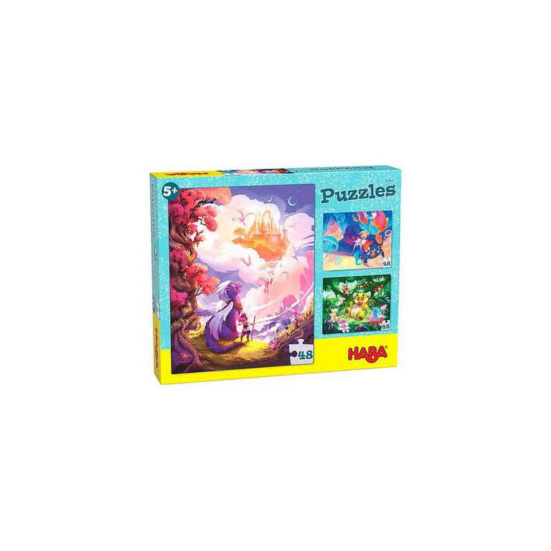 Haba Puzzle »HABA 305917 Puzzle Im Fantasieland, 3 x 48 Teile«, Puzzleteile
