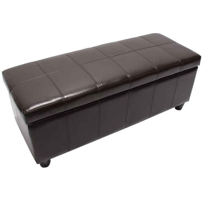MCW Truhe »Kriens-L«, Aufklappbarer Deckel, Gepolsterte Sitzfläche, Stabiler Stand
