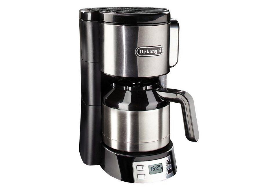 De´Longhi Kaffeemaschine »ICM15750«, mit 1,25 L Thermokanne, Abschaltautomatik, 1000 Watt in schwarz