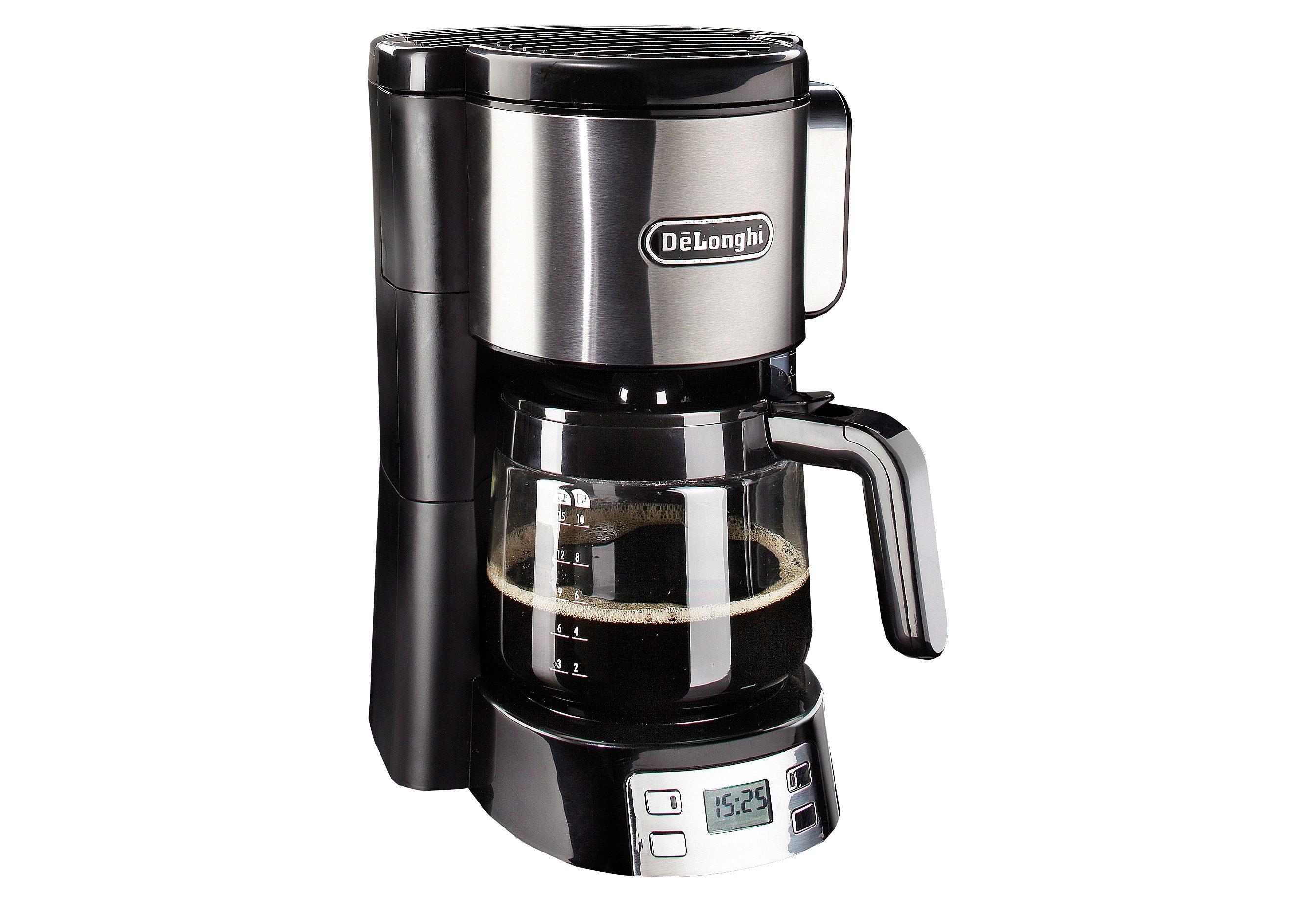 De'Longhi Filterkaffeemaschine ICM 15250, 1,25l Kaffeekanne, Papierfilter 1x4, komplett frontal bedienbar