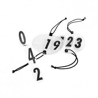 Horze Startnummer »Horze Große runde Kopfnummern« in Schwarz Weiß