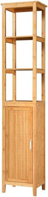 Badschränke - WELLTIME Hochschrank »Bambus New«, Badschrank 40 cm breit  - Onlineshop OTTO