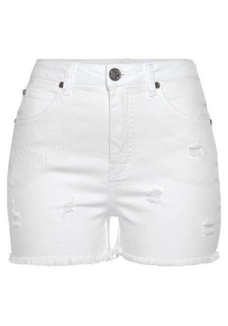 Hosen - AJC Shorts aus Jeansqualität mit Destroyed Effekten › weiß  - Onlineshop OTTO