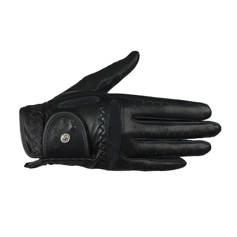 Horze Lederhandschuhe »Luxus« in Schwarz