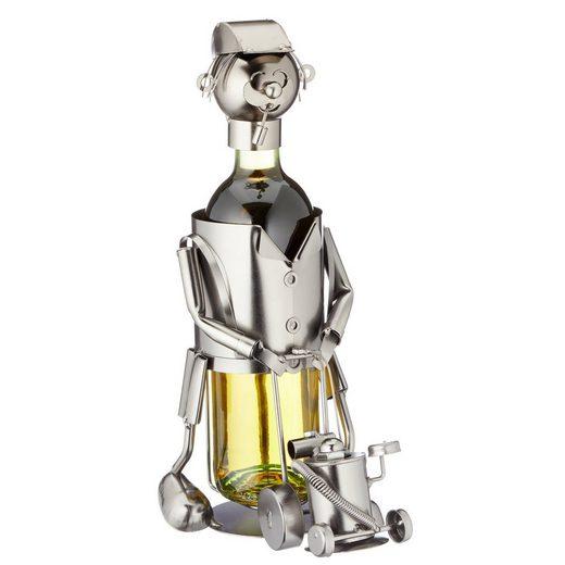 HTI-Living Weinflaschenhalter »Weinflaschenhalter Rasenmäher«, (1-St)