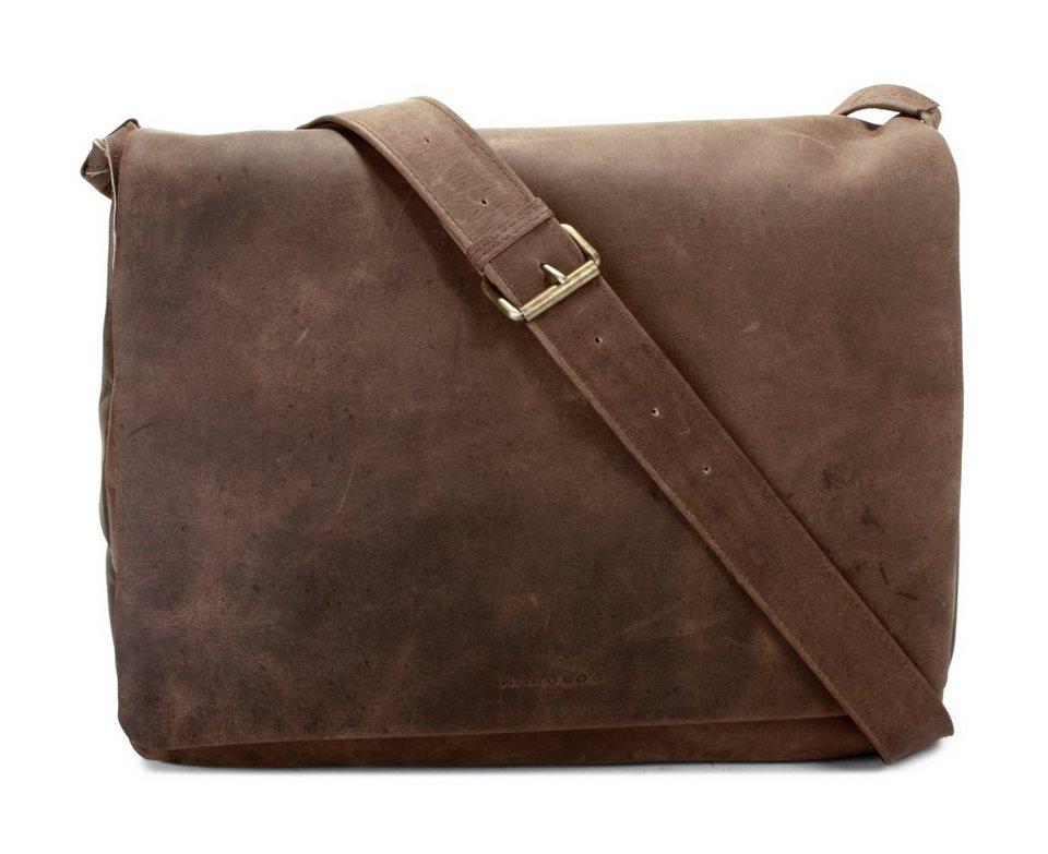 Harold's Leder Messengerbag »Antic« in braun