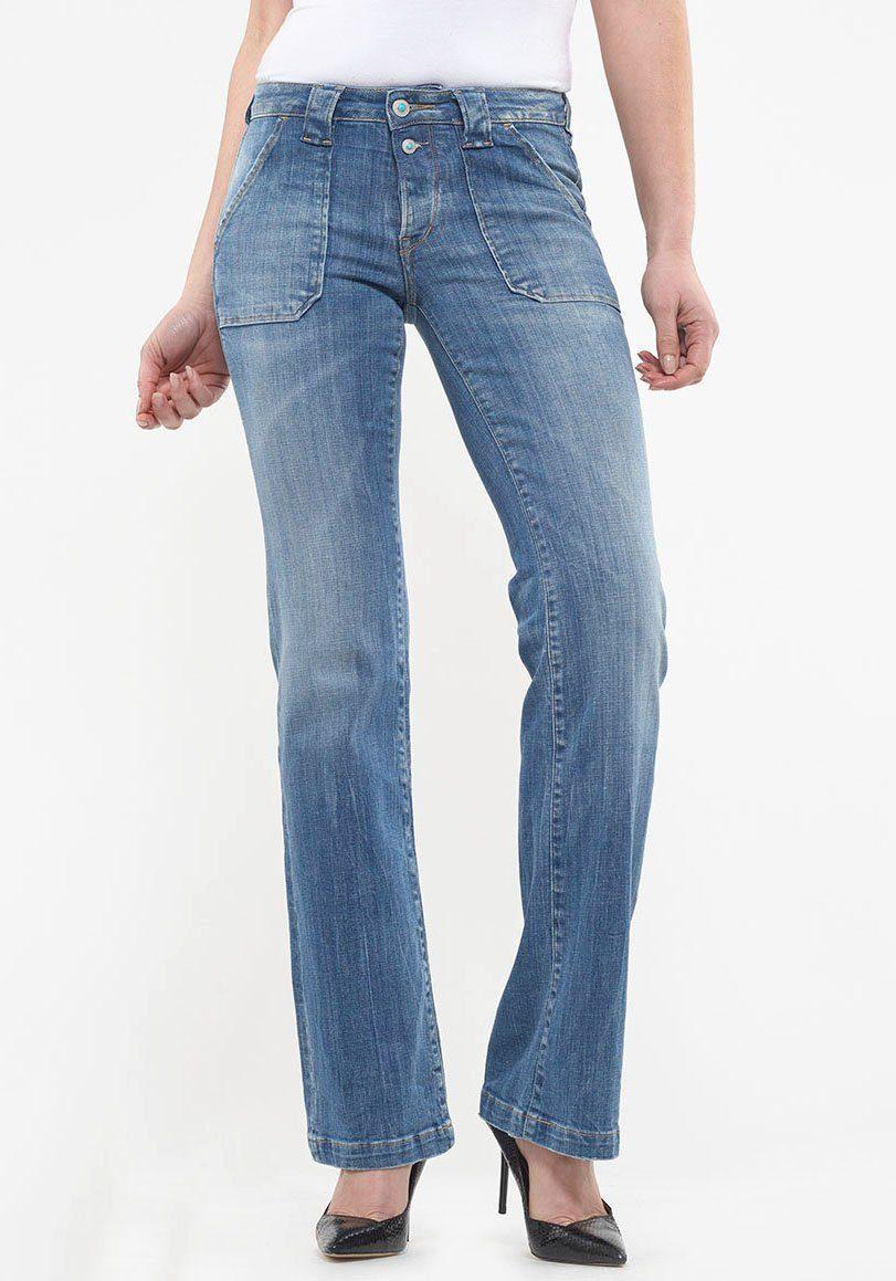 Le Temps Des Cerises Bootcut-Jeans FLARE mit aufgesetzten Taschen
