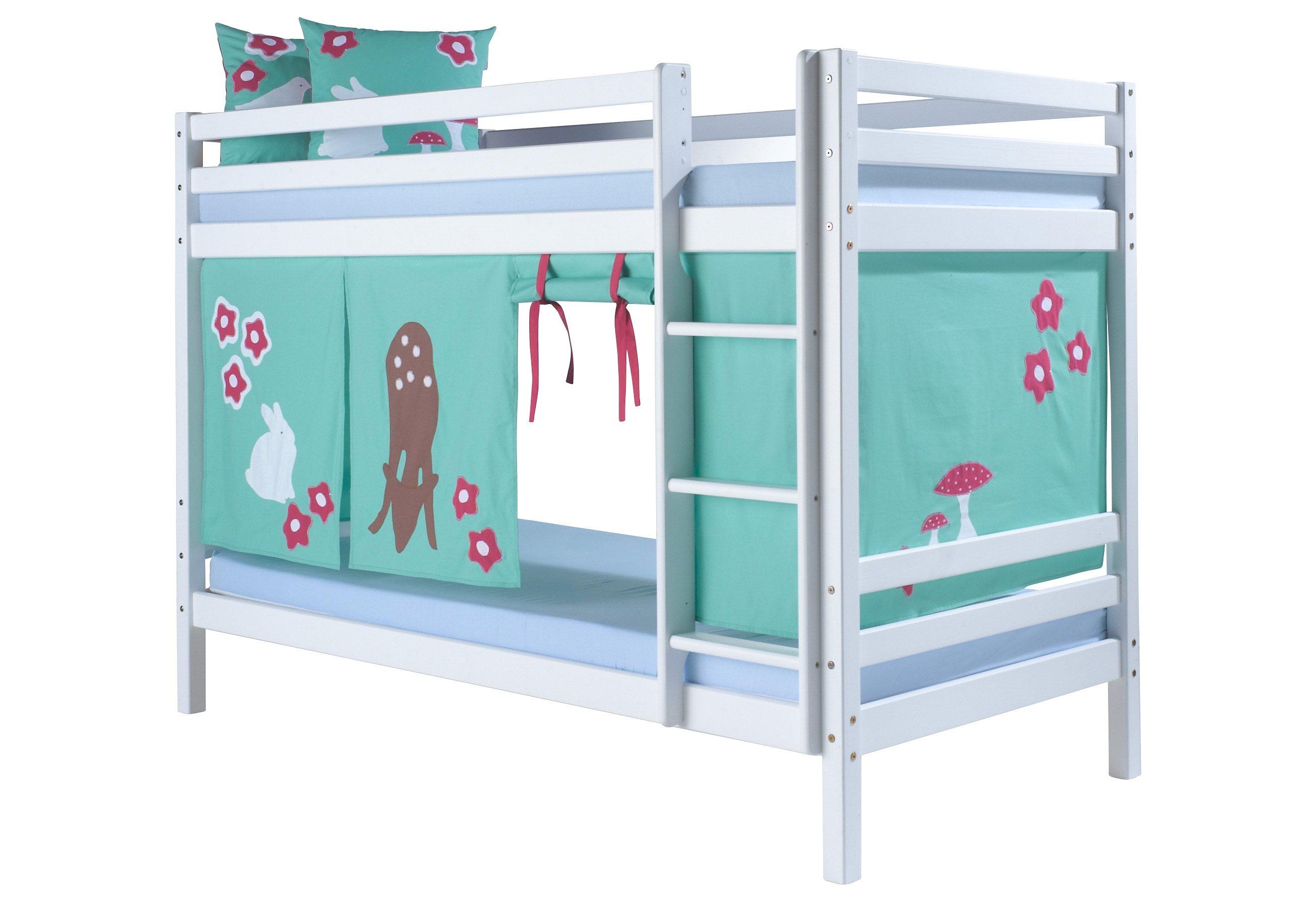 Etagenbett, Hoppekids, »Forest« | Kinderzimmer > Kinderbetten > Etagenbetten | Weiß | Massiver | Hoppekids