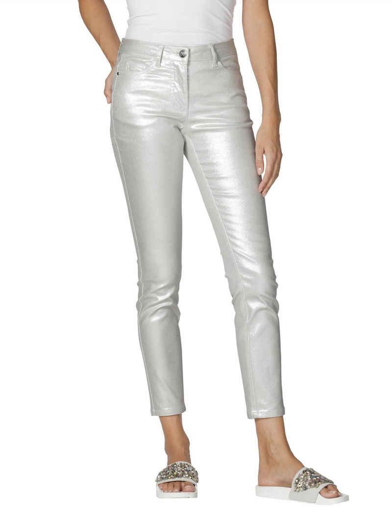 Amy Vermont 5-Pocket-Hose in Metallic-Optik