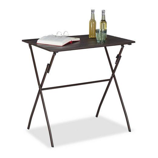 relaxdays Gartentisch »Klappbarer Gartentisch Holz-Optik«