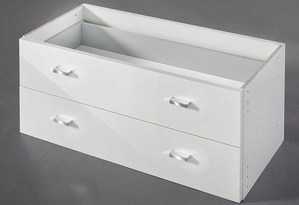 Schubkastenelement, HMW, groß in weiß