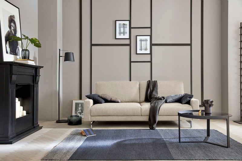 hülsta sofa 3-Sitzer »hs.450«, Armlehne schmal niedrig, Breite 204 cm, Fuß Chromspange, wahlweise in Stoff oder Leder