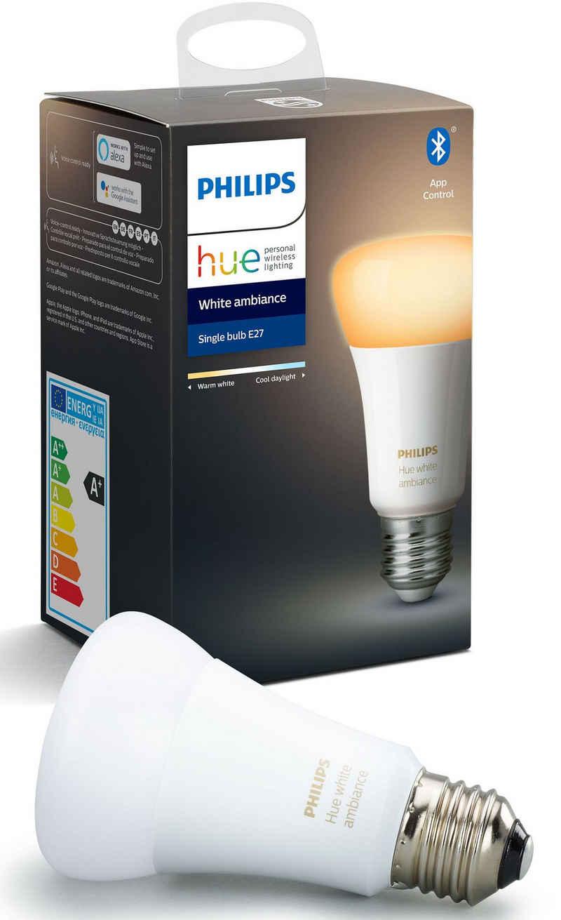 Philips Hue »White Ambiance Einzelpack 1x806lm« LED-Leuchtmittel, E27, 1 Stück, Warmweiß, Tageslichtweiß, Neutralweiß, Extra-Warmweiß
