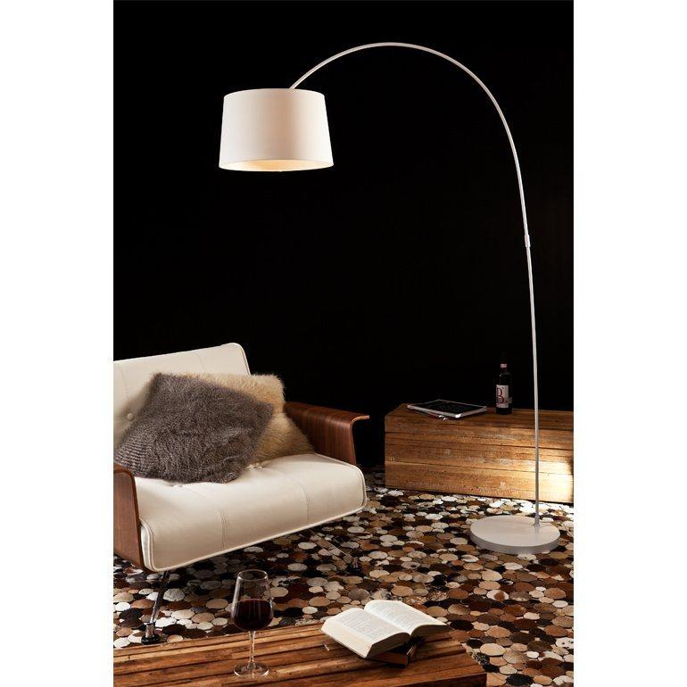SalesFever Bogenlampe weiß groß »Necko« in weiß