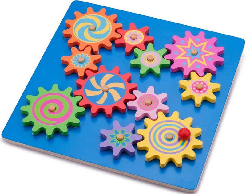 New Classic Toys® Steckpuzzle »Zahnradpuzzle«, 11 Puzzleteile, aus Holz