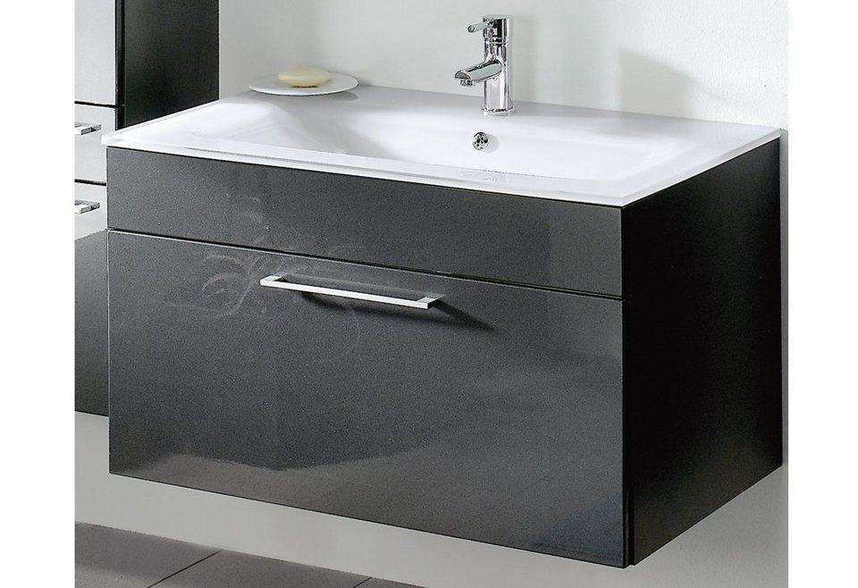 Badezimmer unterschrank schwarz
