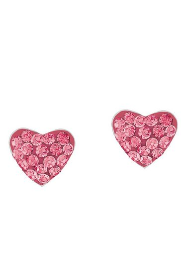 Prinzessin Lillifee Paar Ohrstecker »Herzen, 2027911«, mit Preciosa Crystals