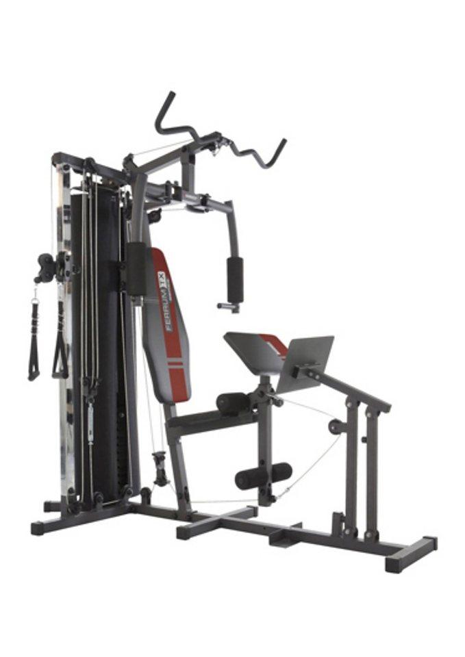 Fitness-Station, »FERRUM TX 3«, Hammer in schwarz-silberfarben-rot