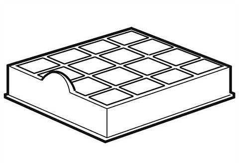 Hygieneabluftfilter für Privileg Kombisauger VC-SP1001D