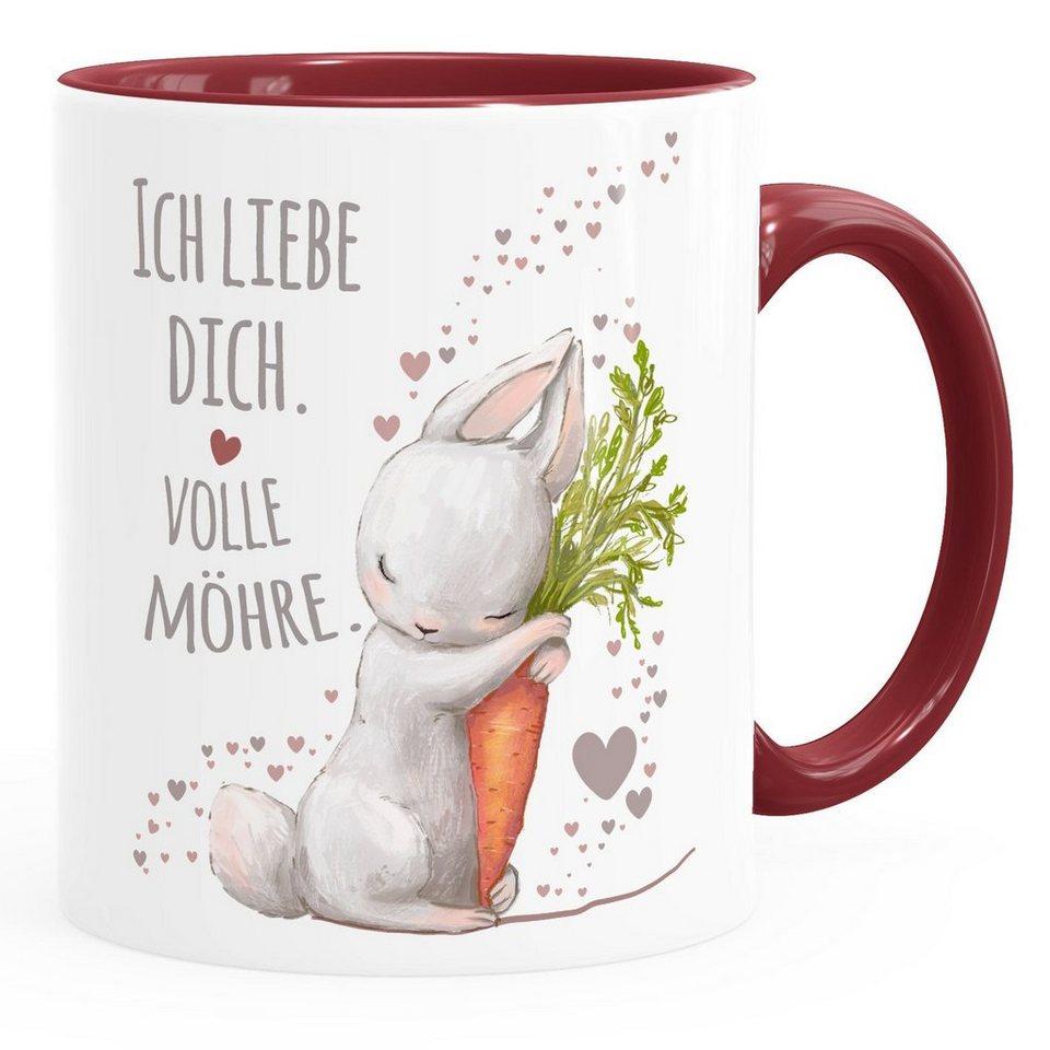 moonworks tasse »kaffeetasse ich liebe dich volle möhre