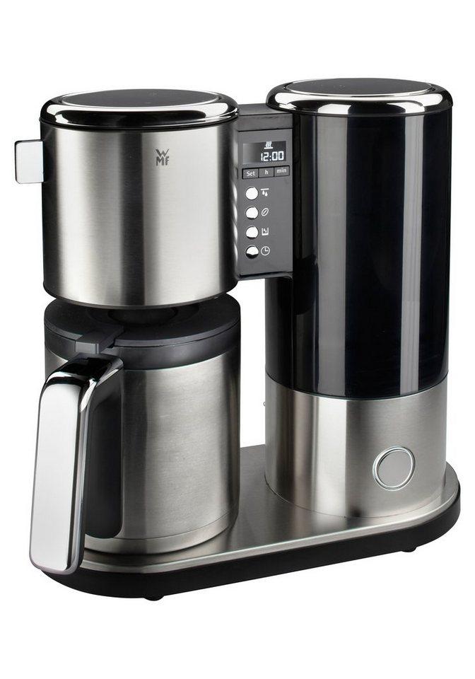 WMF Kaffeemaschine Lineo Thermo, 38,5 cm Höhe, 38,7 cm Breite in silberfarben