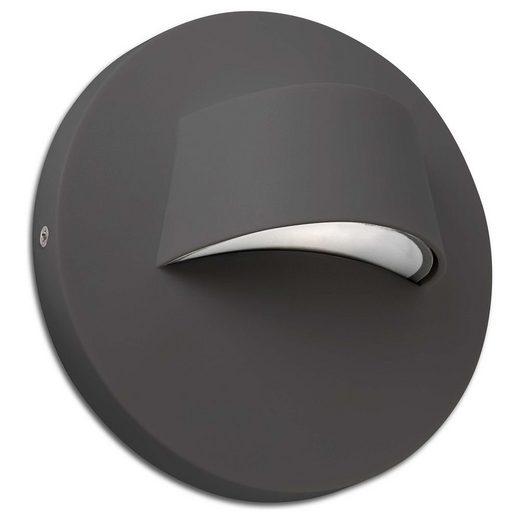 click-licht LED Einbauleuchte »LED Wandeinbauleuchte Brow in Grau«, Einbaustrahler, Einbauleuchte