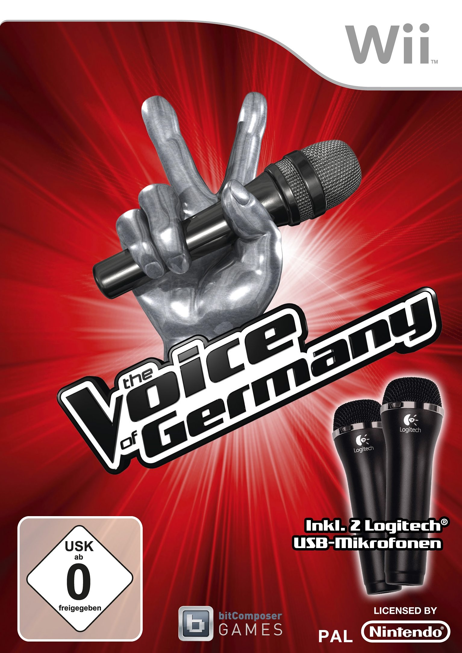 Wii - Spiel »The Voice of Germany (inkl. 2 Mikrofonen)«