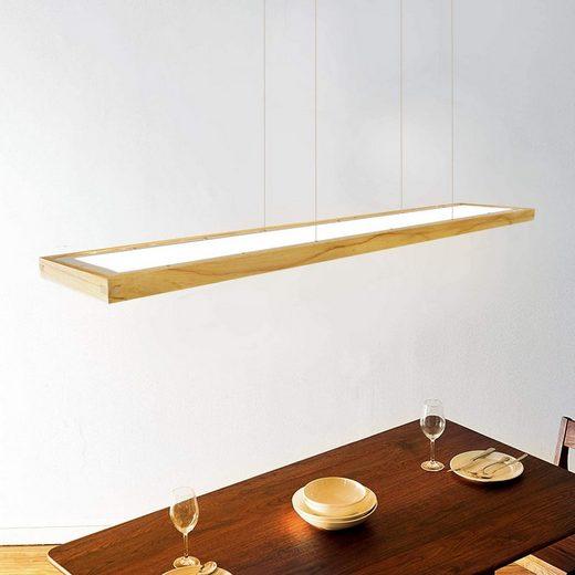 ZMH LED Pendelleuchte »Hängelampe dimmbar 40W mit den Fernbedienung Holz pendellampe Hängeleuchte 3040lm IP20«