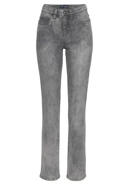Hosen - Arizona Gerade Jeans »Comfort Fit« Moonwashed Jeans › grau  - Onlineshop OTTO