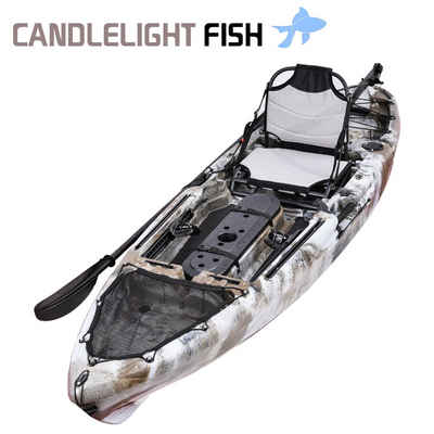 WIN.MAX Sit-on-Top Kajak »Candlelight Fish Kayak set mit Kombi-Paddel Angelkajak 1 person«, BxLxH: 82x302x36cm