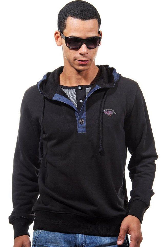 MCL Kapuzensweater in schwarz