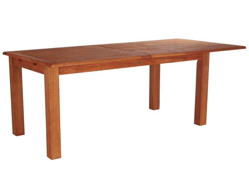 Gartentisch »Bordeaux«, ausziehbar, Eukalyptusholz, 180-220-260x100 cm in braun