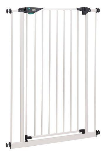 BOMI Türschutzgitter »Kinderschutzgitter Extra Hoch Mira 73-161 cm ohne Bohren«, Babygitter zum Klemmen - 90 Grad Feststellfunktion der Tür - Selbstschließend Schutzgitter Baby