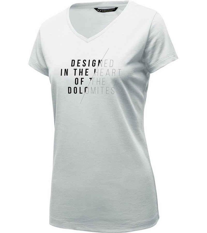 Salewa T-Shirt »SALEWA Slash DRI-Release Shirt schnell trocknendes Damen Wander-Shirt Outdoor-Shirt Weiß«