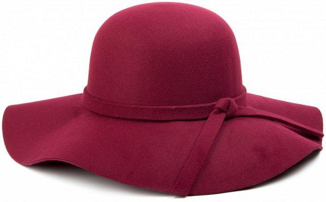 styleBREAKER Fedora »Floppy Filzhut mit Zierband und Schleife« Floppy Filzhut mit Zierband und Schleife | Accessoires > Hüte > Filzhüte | styleBREAKER