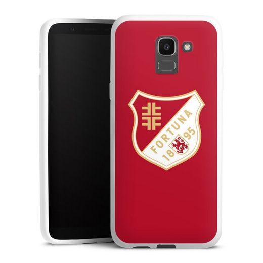 DeinDesign Handyhülle »Fortuna 1895 Rot« Samsung Galaxy J6 (2018), Hülle Wappen Fortuna Düsseldorf Fußballer