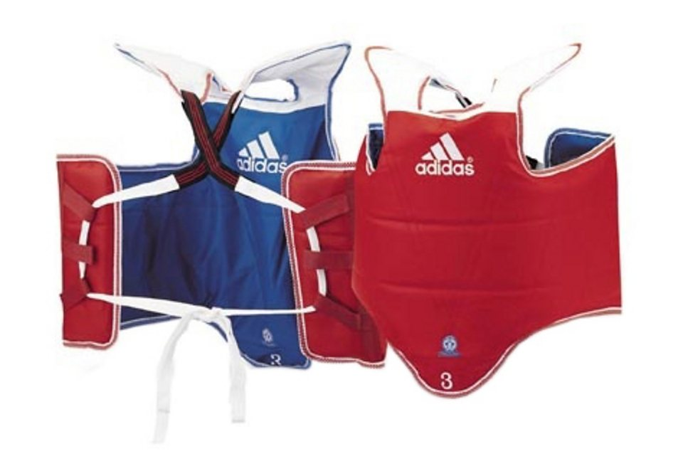Kampfweste, Adidas Performance, »reversible« in rot/blau