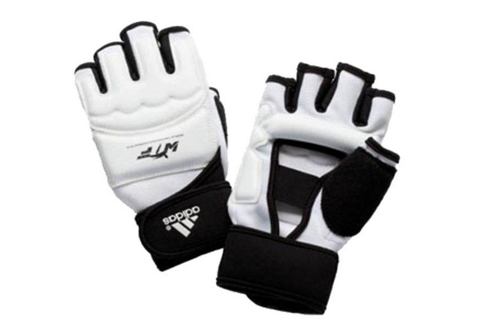 Handschutz, Adidas Performance in weiß/schwarz