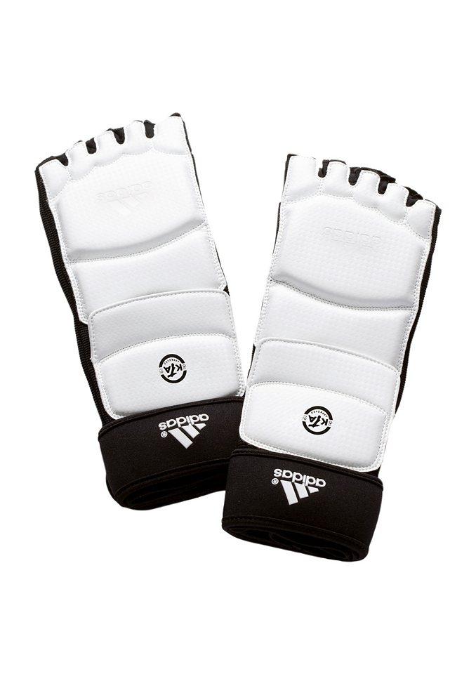 Fußschutz, Adidas Performance in weiß/schwarz